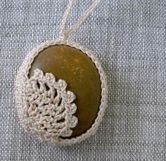 Crochet Stone Necklace