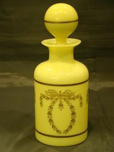 Portieux Vallerysthal French opaline glass dresser bottle