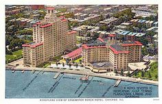 Aeroplane View of the Edgewater Beach Hotel. Image courtesy CRCC collection.