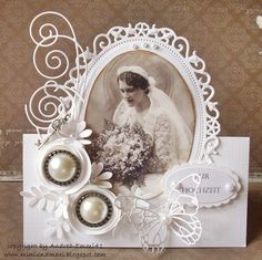 beautiful - want to do something like this on a heritage memorybook page vintage Udfordring 54