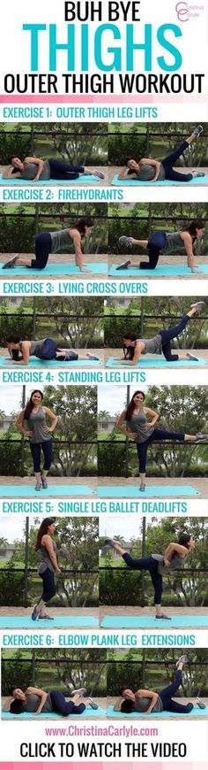 Workouts for Women – Outer Thigh Exercises  https://www.christinacarlyle.com/workouts-for-women-outer-thigh-exercises/