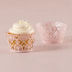 Lace Hearts Filigree Paper Cupcake Wrappers