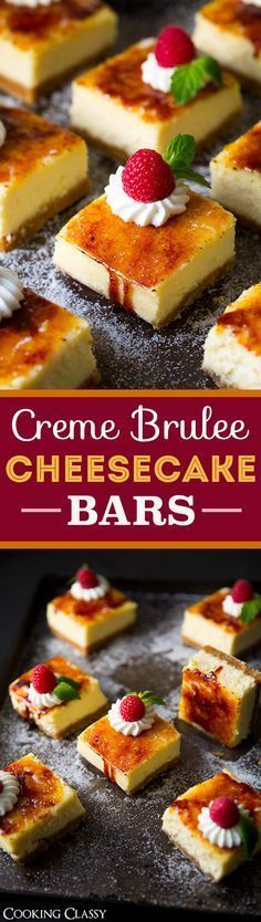 Creme Brulee Cheesecake Bars - one of the BEST desserts you will ever eat!! Unbelievably delicious!