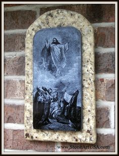 The Ascension of Jesus Christ laser etched into granite by StoneArtUSA.com