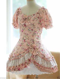 COUNTRY LOLITA summer kawaii classic pastel sweet fairy mori forest kei dress  #Unbranded #Lolita #Casual