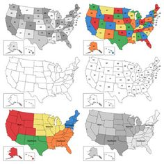 U.S. Regions & States Map Clipart from Digital Classroom Clipart $