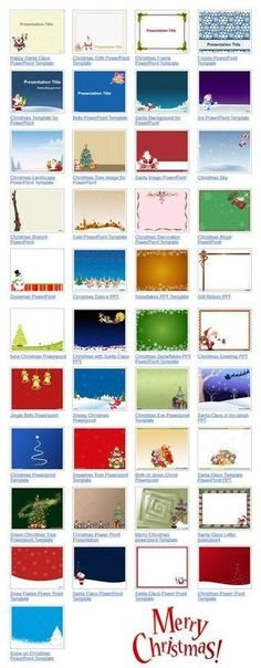 Free Christmas PowerPoint Templates by FPPT.com #Christmas presentations
