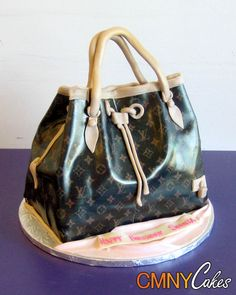 #Brown Designer #Handbag #Cake - We love and had to share! Great #CakeDecorating! by  CMNY Cakes