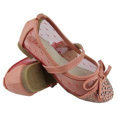Kids Ballet Flats Studded Toe Cap Mesh Lace Casual Slip On Shoes Orange Ballet Kids, Casual Slip On Shoes, Girls Flats, Ballet Flats, Coral, Mesh, Sandals, Lace, Orange