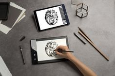 The Slate integrates into the Digital World the feeling that comes with using real objects. Digitize your Paper Drawings with the Slate!