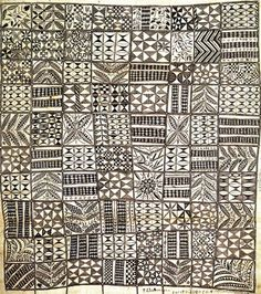 Tapa cloth. ca. 1885 |  Hiapo is the Niuean word for tapa cloth. Traditionally it was patterned with designs unique to the island, many of them depicting events that were topical at the time the hiapo was painted. In recent years, hiapo art has been enjoying a revival