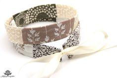 Patchwork Stoff Gürtel aus der #Lieblingsmanufaktur in beige und weiß