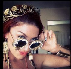 Neon Hitch Wearing Her Favorite Eyewear: Crown of Daisies by Mercura Sunglasses