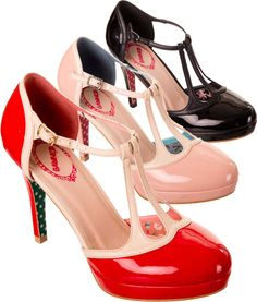 Banned 50's Betty Patent T-Bar Platform Shoes http://www.tigermilly.com/p-Banned_50s_Betty_Patent_TBar_Platform_Shoes_3_Colours-2027.aspx
