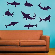 Shark Wall Decal Kids Room Decor Ocean Life Wall Sticker Beach Decor Ocean Themed£šNavy blue,xs) DecorPlaza https://www.amazon.ca/dp/B017LH1GAC/ref=cm_sw_r_pi_dp_2ah6wb7CBAT1A
