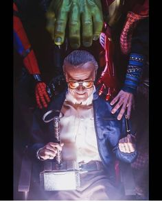 Remembering Stan Lee: Fans All Over the World Honor Marvel's Legend by Creating Touching Tribute Art Marvel Avengers, Marvel Comics, Captain Marvel, Marvel Fanart, Films Marvel, Memes Marvel, Bd Comics, Marvel Characters, Captain America