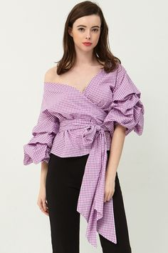 Vivian Ruched Sleeve Top . Discover the latest fashion trends online at storets.com #top #sleevetop #vivian