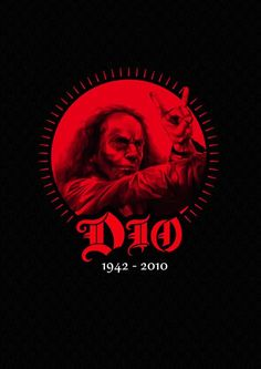 In memory of Ronnie James Dio The Man on The Silver Mountain Heavy Metal Rock, Heavy Metal Music, Heavy Metal Bands, Power Metal, Metallica, Rock And Roll, Metal Health, James Dio, Classic Rock