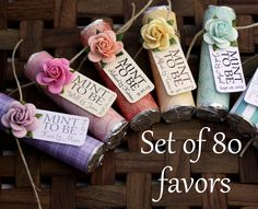 "Bridal shower or wedding favors - Set of 80 - ""Mint to be"" favors with personalized tag by BabyEssentialsByMel on Etsy https://www.etsy.com/listing/184525729/bridal-shower-or-wedding-favors-set-of"