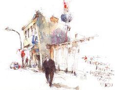 Artwork Online, Urban Sketching, Paper Size, Original Artwork, Sketches, Draw, Watercolor, The Originals, Painting