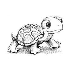 cartoon turtle | Tumblr found on Polyvore This little guy is adorable!!!