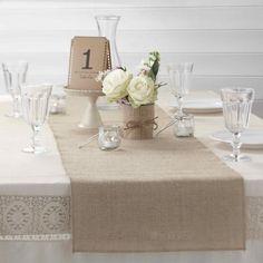 Vintage jute tafelloper   In Style Decoraties - In Style Styling & 12,95 voor 2 meterDecoraties