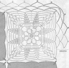 Вязание скатерти крючком