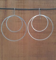 Double hoop earrings metalsmith earrings by HartmannJewelryWorks