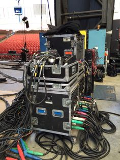 Power for the lighting on stage at BFD.