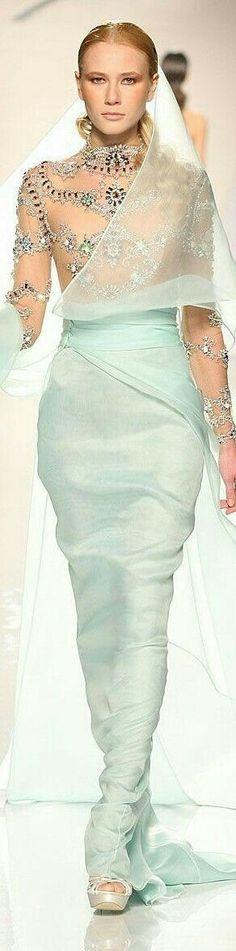 Pale mint green | Light seafoam | dress, fashion, catwalk
