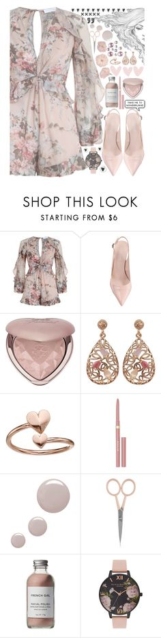 """""""Untitled #362"""" by anna-nedelcheva ❤ liked on Polyvore featuring Zimmermann, Too Faced Cosmetics, Luxiro, Alex and Ani, Stila, Topshop, Anastasia Beverly Hills, French Girl and Olivia Burton"""