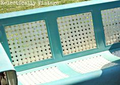 old green and white slider lawn chair - Google Search