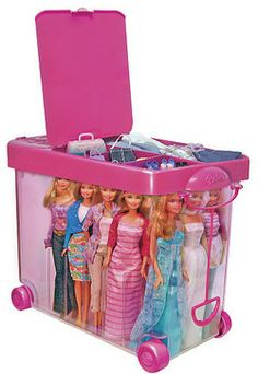Barbie Store It All Carrying Case - contemporary - toy storage - Toys R Us Barbie Storage, Barbie Organization, Doll Storage, Kids Storage, Organizing, Lol Dolls, Barbie Dolls, Toys R Us, Kids Toys