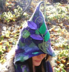 not only do I want this... I want to *be* some part of myself that would wear this. WINTER SALE Felted Hood Scoodie  Purple Green Marbled  by folkowl, $70.00