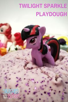 Squiggles and Bubbles: Twilight Sparkle Playdough