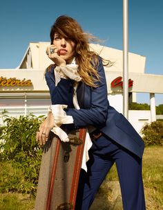 Lou Doillon by Jean-Baptiste Mondino for Elle France September 2015.