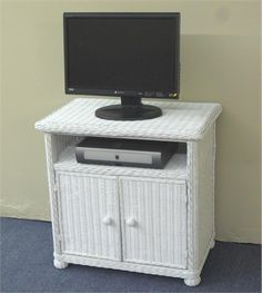 Wicker TV Stand