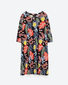 Image 8 of PRINTED T-SHIRT DRESS from Zara