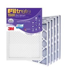 Filtrete Ultra Allergen Reduction Air Filter, 1500 MPR (Previously 1250), 20-inch By 20-inch By 1-inch, Case of 12