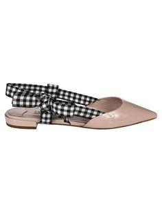 MIU MIU SLINGBACK CHECKED PUMPS. #miumiu #shoes #