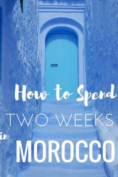 "Morocco was a trip that was decided on a little last-minute. I had to squeeze it and that meant we had just under two weeks in Morocco. With this 2 week Morocco itinerary you'll see what I thought would be the best of Morocco. Of course, you can't ""do"" a country in two weeks but with this Morocco itinerary, you'll definitely see a lot from mountains to desert, cities, beaches, and tiny blue villages."