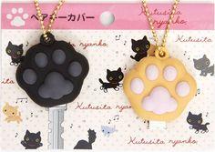 Kutusita Nyanko cat paw key cover charm