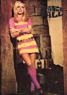 """French singer France Gall. Pinup from """"Cinema"""" magazine (April 1969)"""