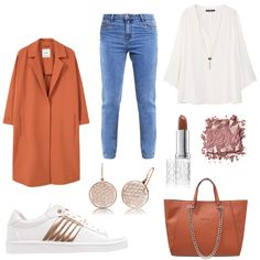 OneOutfitPerDay 2016-10-05 - #ootd #outfit #fashion #oneoutfitperday #fashionblogger #fashionbloggerde #frauenoutfit #herbstoutfit - Frauen Outfit Herbst Outfit Outfit des Tages Winter Outfit Benefit Bluse BUFFALO denim Engelsrufer Even & Odd Guess Handtasche Jeans Mango Mantel Pastel rose Sneaker Violeta by Mango Wollmantel