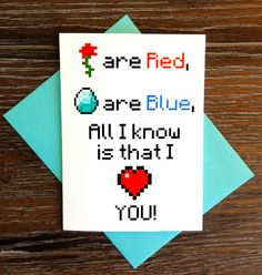 <3 http://www.etsy.com/listing/151383786/minecraft-poem-love-card