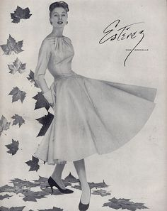suzy parker for Estavez 1953