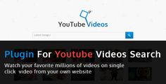 YouTube Video search everything you need to manage your movies in your blog. YouTube Video search is a great new script.This is a lightweight, fast site youtube video search engine for static/dynamic websites written in PHP. It is a great tool for search youtube videos by keyowrd to your website or theme. It is small, easy to setup.