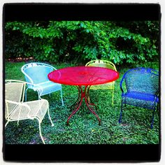 Skittles wrought iron patio furniture