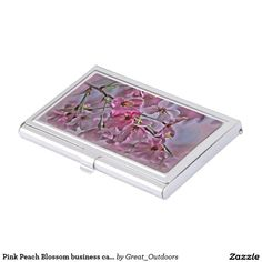Pink Peach Blossom business card holder