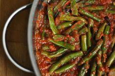 Grüne Bohnen in Tomatensauce